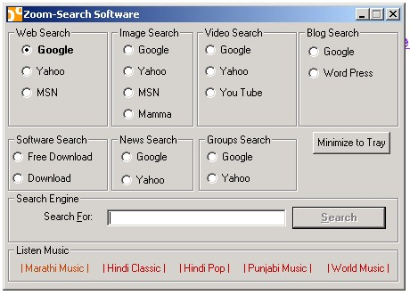 Zoom Search Software