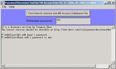 Password Recovery Tool for MS Access