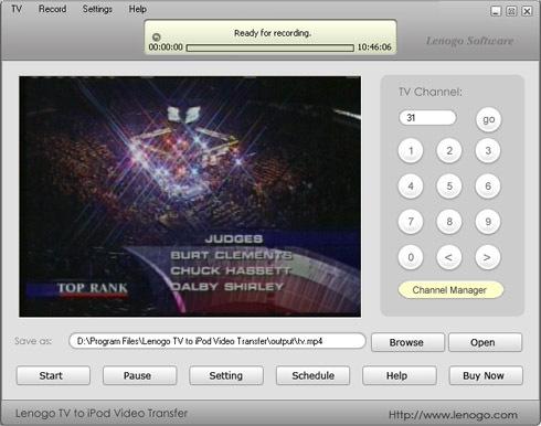 Lenogo TV to iPod Video Transfer